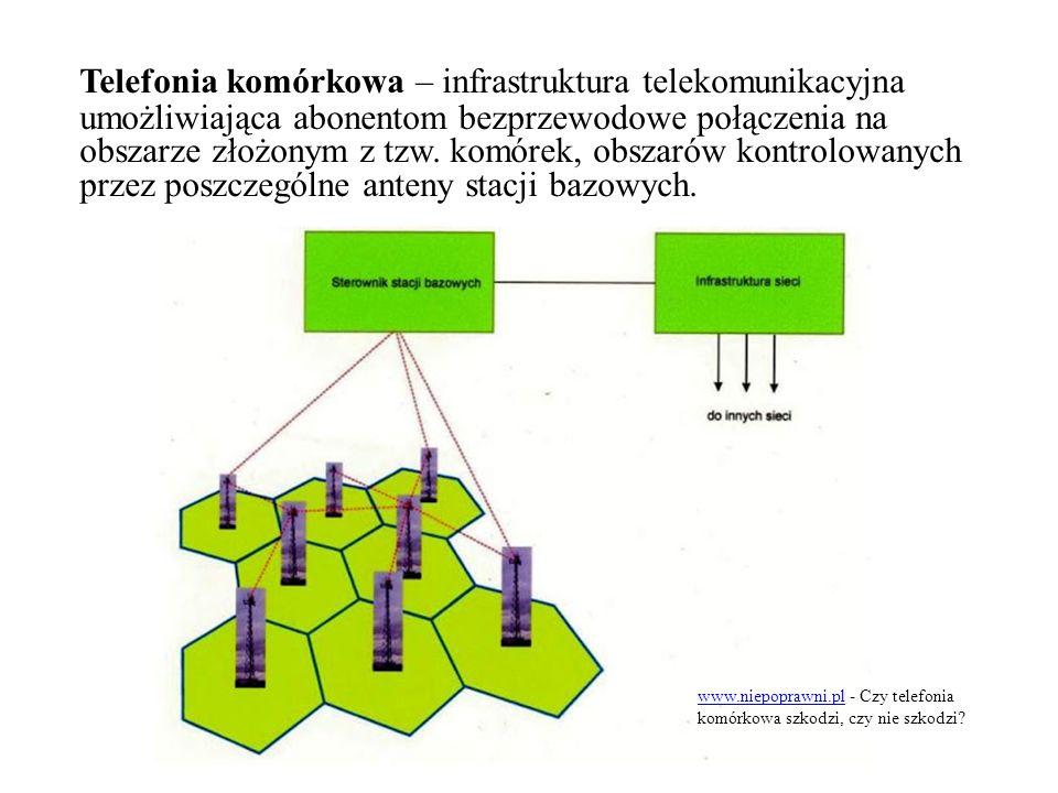Telefonia komórkowa – infrastruktura telekomunikacyjna umożliwiająca abonentom bezprzewodowe połączenia na obszarze złożonym z tzw. komórek, obszarów kontrolowanych przez poszczególne anteny stacji bazowych.