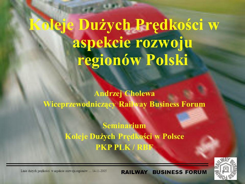 Koleje Dużych Prędkości w aspekcie rozwoju regionów Polski