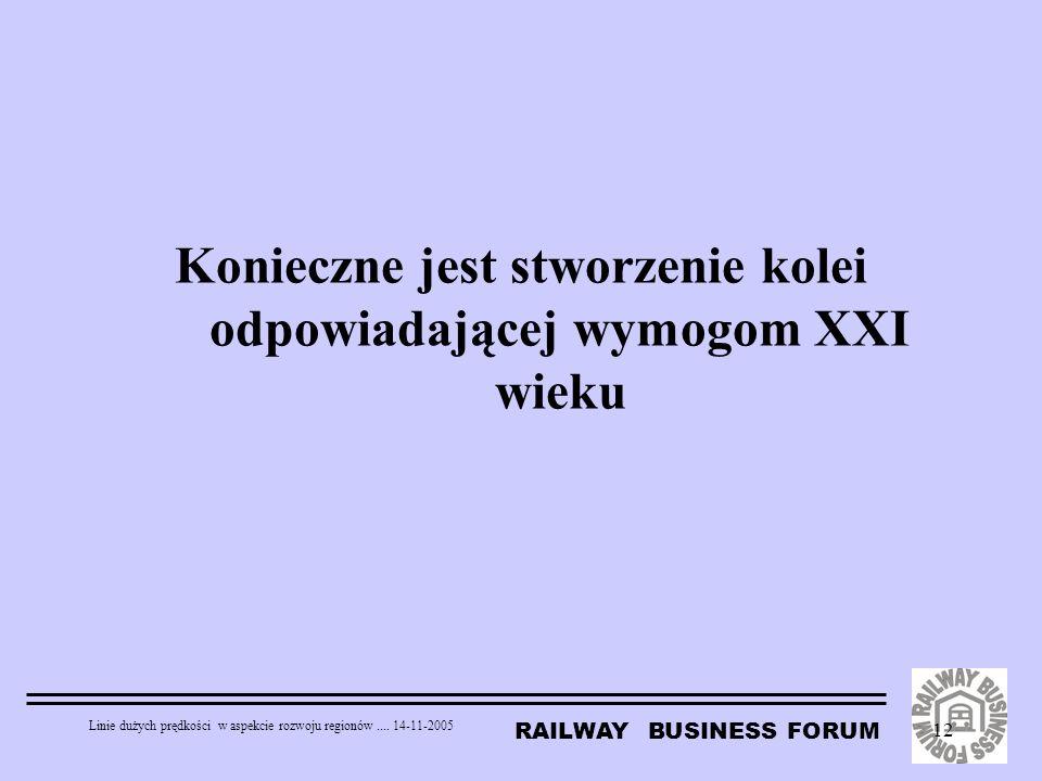 Konieczne jest stworzenie kolei odpowiadającej wymogom XXI wieku
