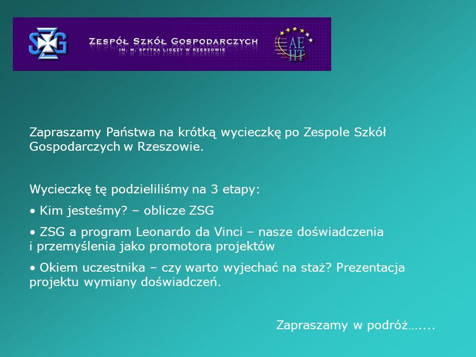 Zapraszamy Państwa na krótką wycieczkę po Zespole Szkół Gospodarczych w Rzeszowie.