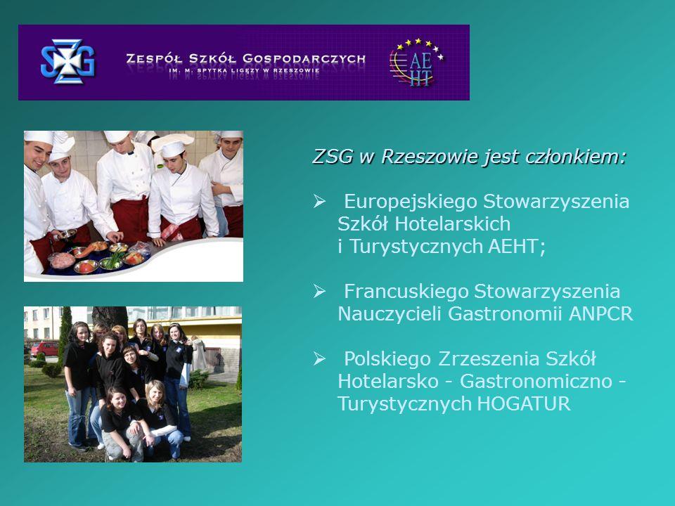 ZSG w Rzeszowie jest członkiem: