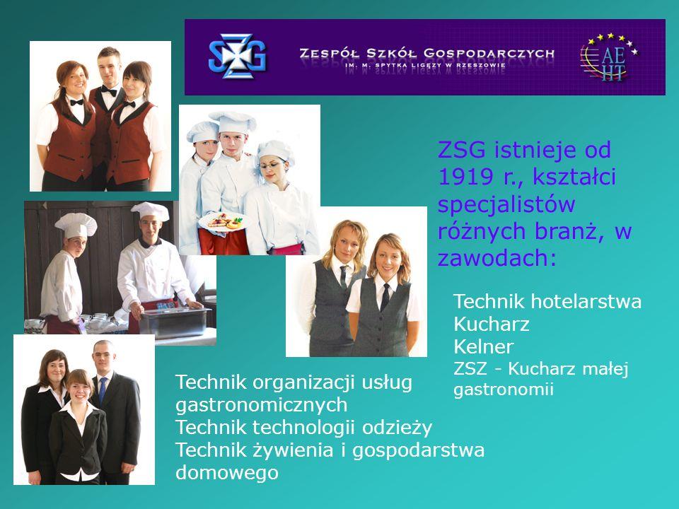 ZSG istnieje od 1919 r., kształci specjalistów różnych branż, w zawodach: