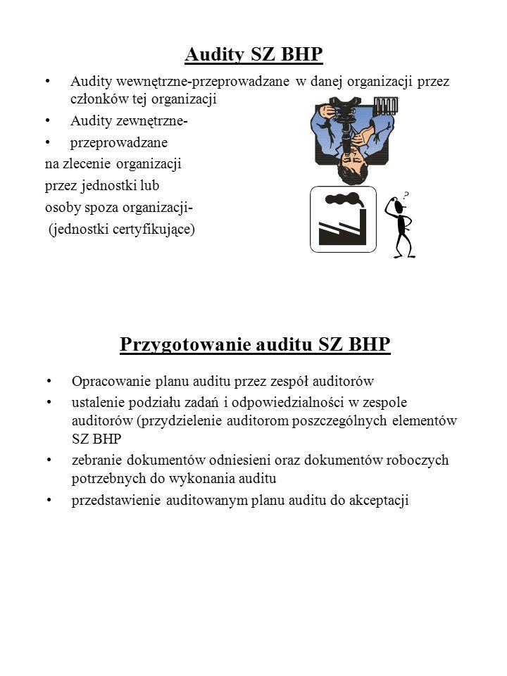 Przygotowanie auditu SZ BHP