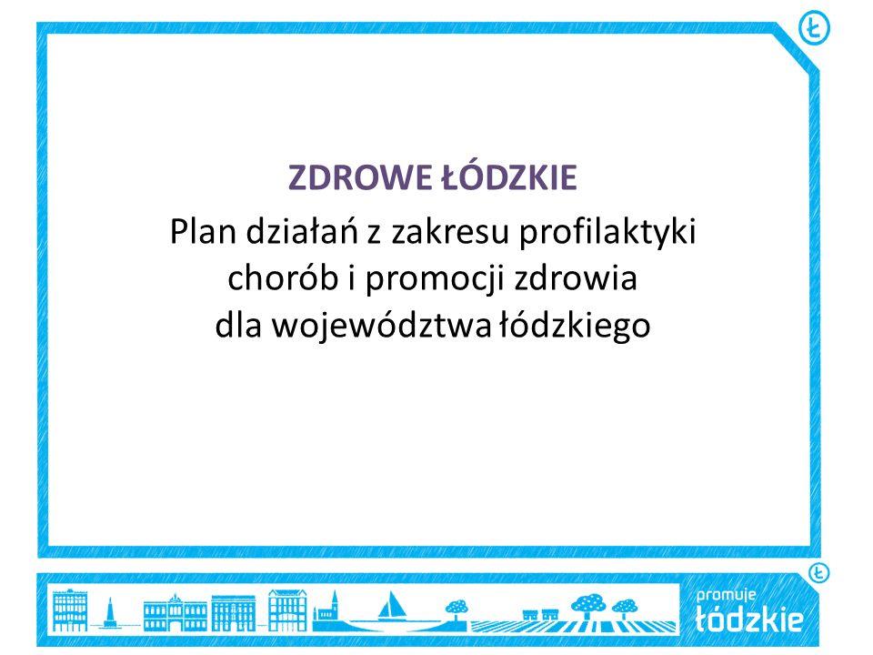 ZDROWE ŁÓDZKIE Plan działań z zakresu profilaktyki chorób i promocji zdrowia dla województwa łódzkiego.
