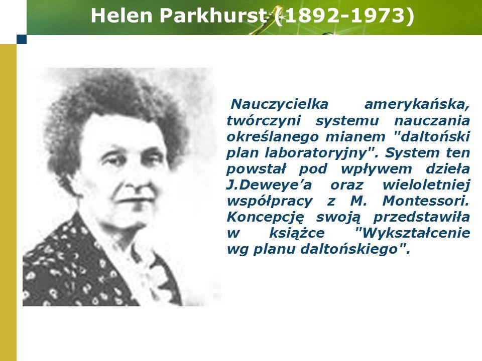 Helen Parkhurst (1892-1973)