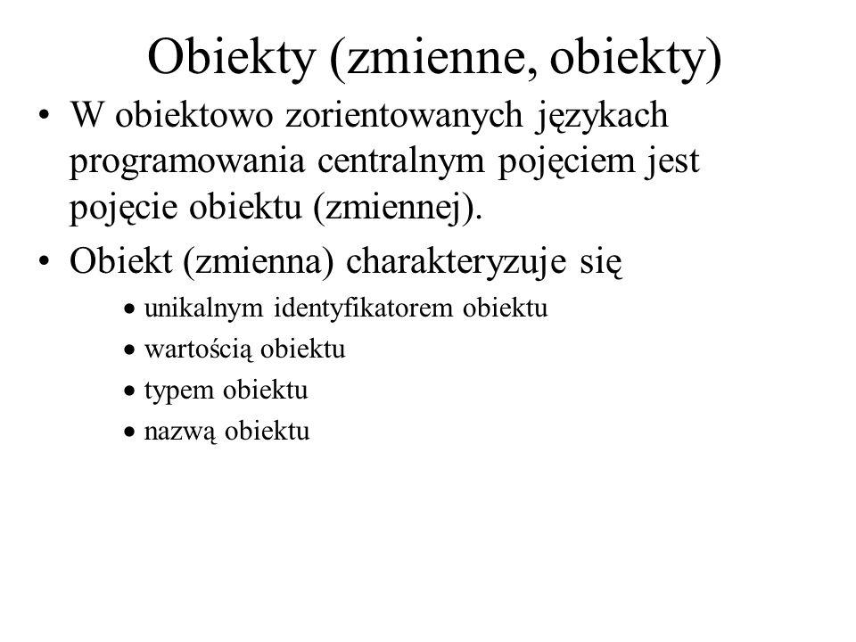 Obiekty (zmienne, obiekty)