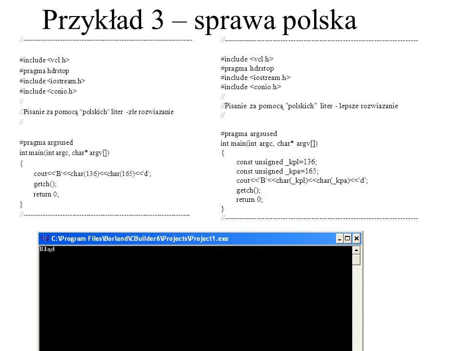 Przykład 3 – sprawa polska