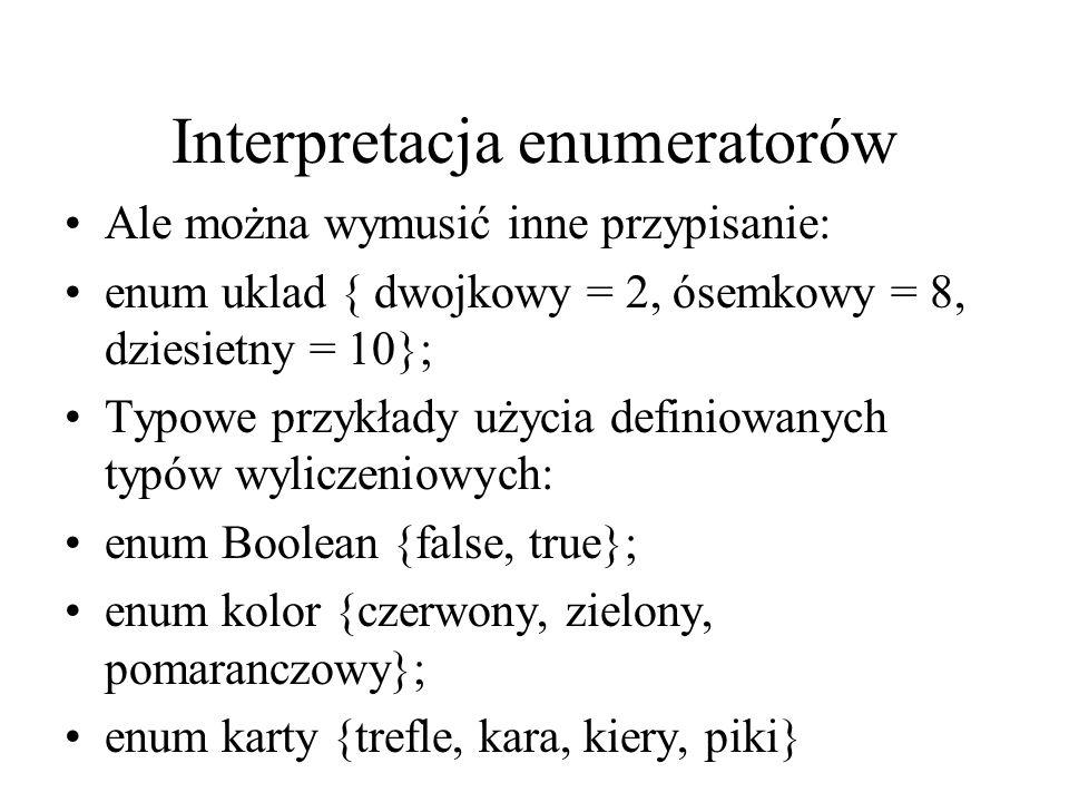 Interpretacja enumeratorów