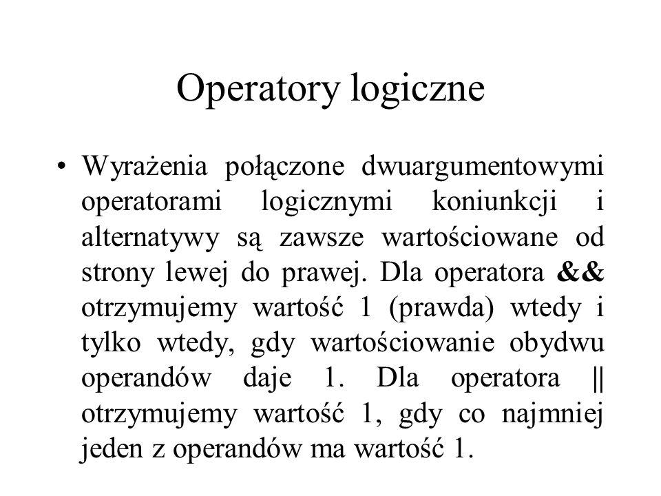 Operatory logiczne