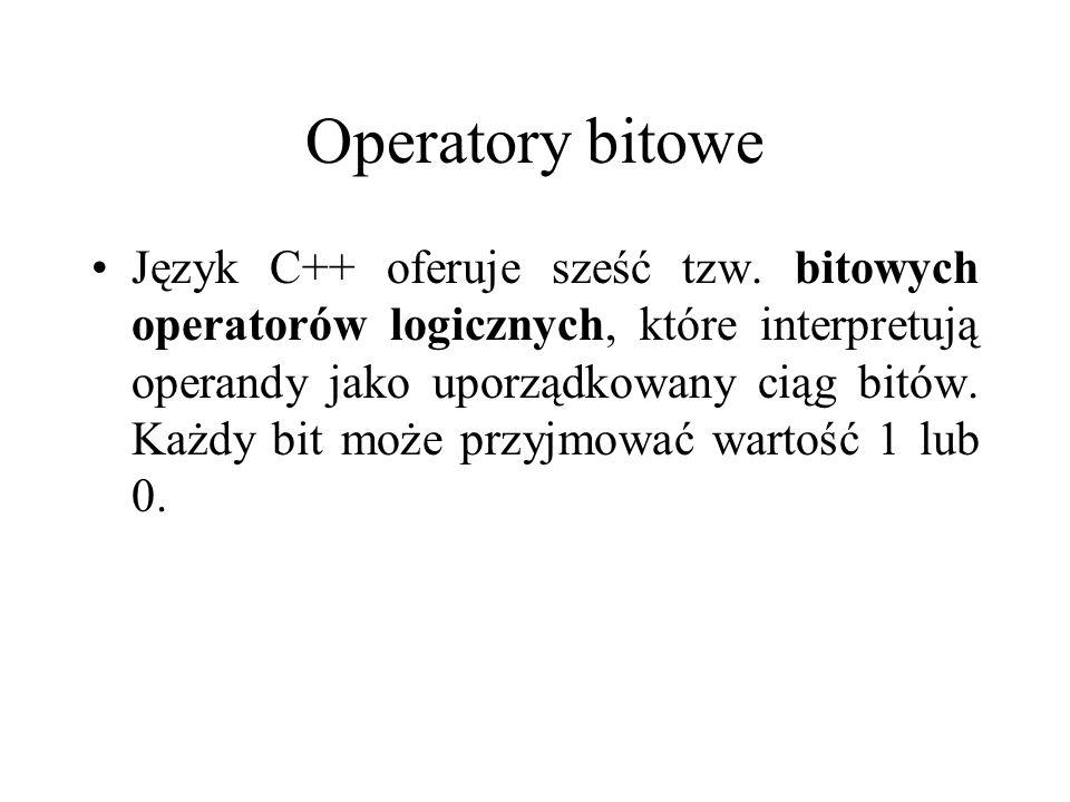 Operatory bitowe