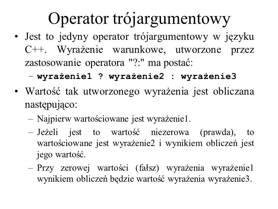 Operator trójargumentowy
