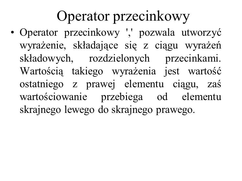 Operator przecinkowy