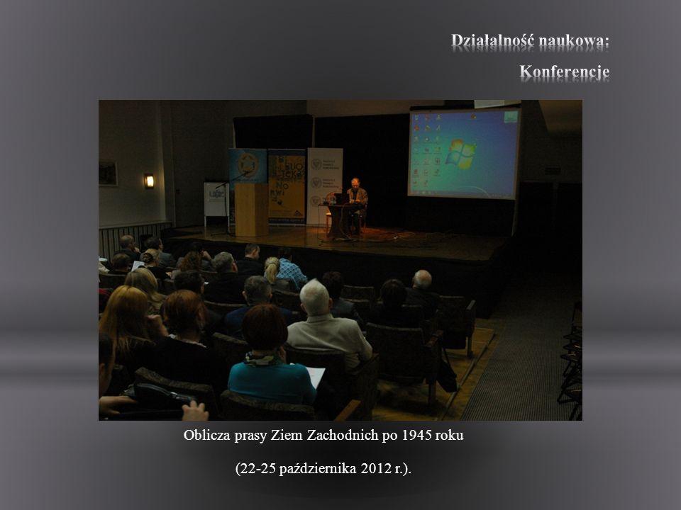 Działalność naukowa: Konferencje