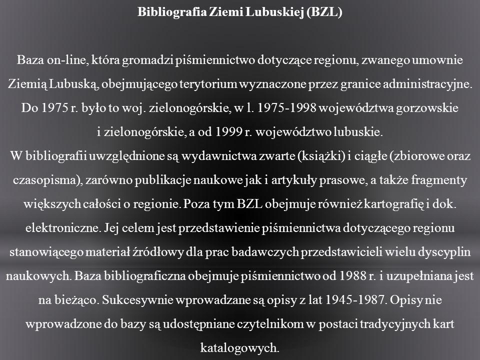 Bibliografia Ziemi Lubuskiej (BZL)