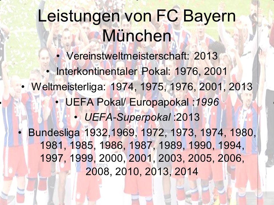 Leistungen von FC Bayern München