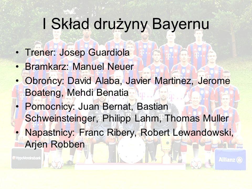 I Skład drużyny Bayernu