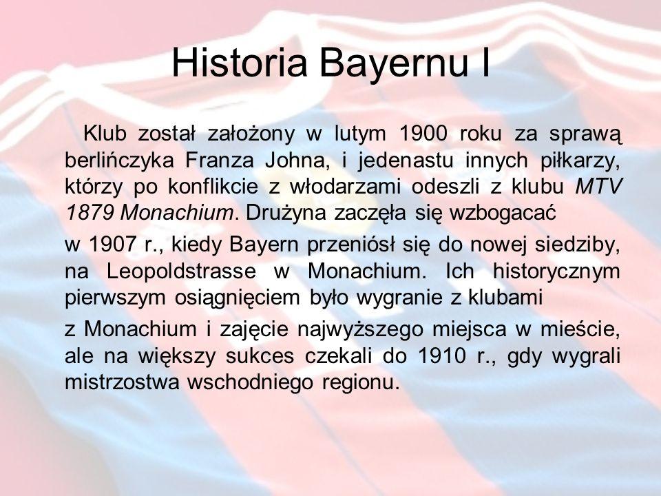 Historia Bayernu I