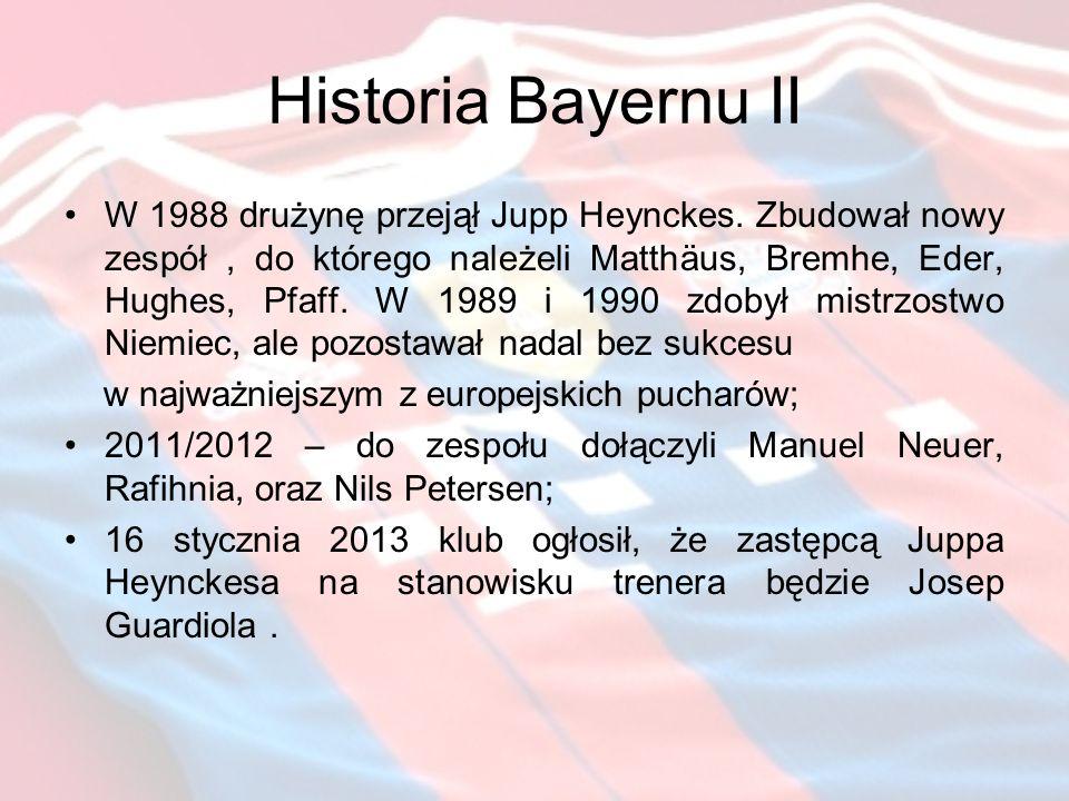 Historia Bayernu II