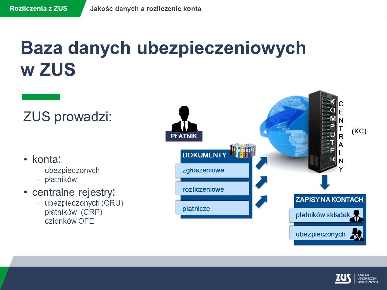 Baza danych ubezpieczeniowych w ZUS