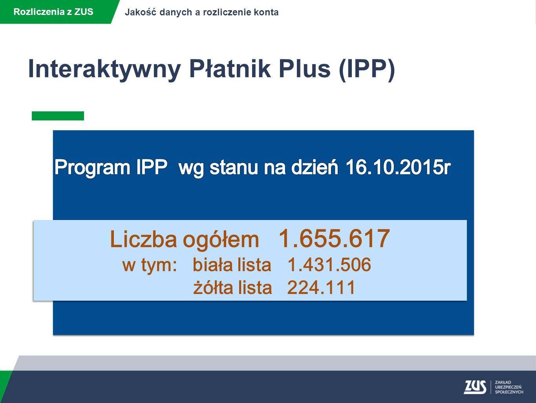 Interaktywny Płatnik Plus (IPP)