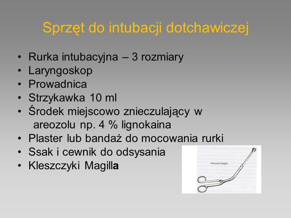 Sprzęt do intubacji dotchawiczej