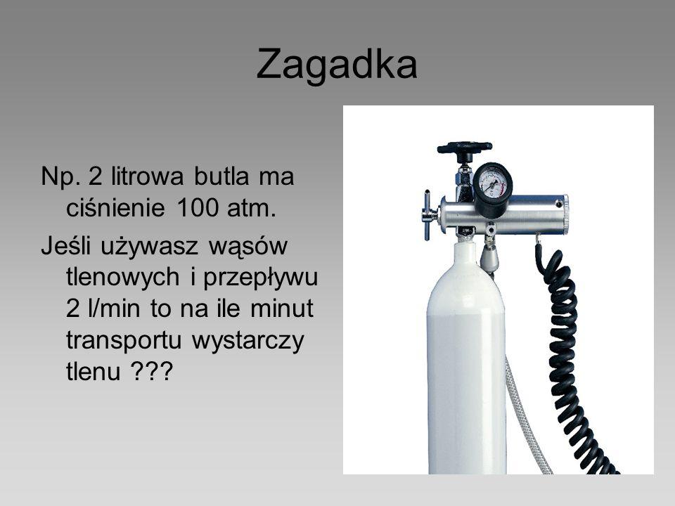 Zagadka Np. 2 litrowa butla ma ciśnienie 100 atm.