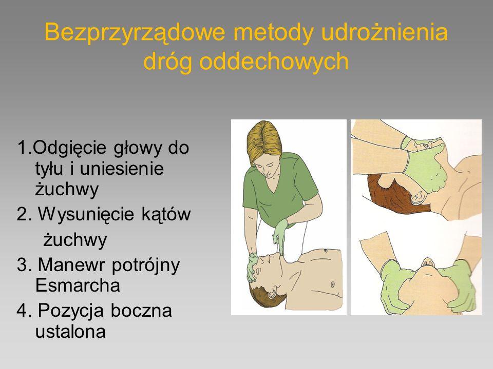 Bezprzyrządowe metody udrożnienia dróg oddechowych