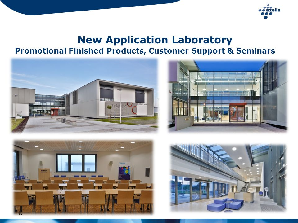 New Application Laboratory Promotional Finished Products, Customer Support & Seminars