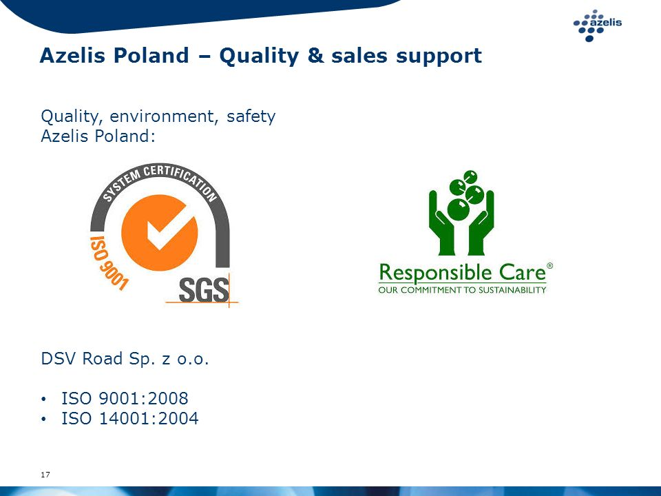 Azelis Poland – Quality & sales support