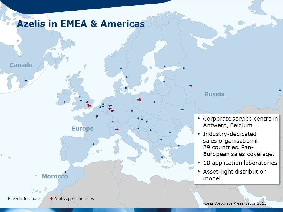 Azelis in EMEA & Americas