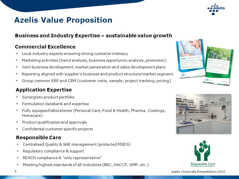 Azelis Value Proposition