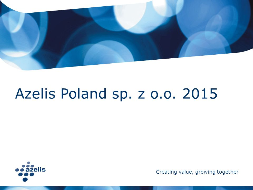 Azelis Poland sp. z o.o. 2015