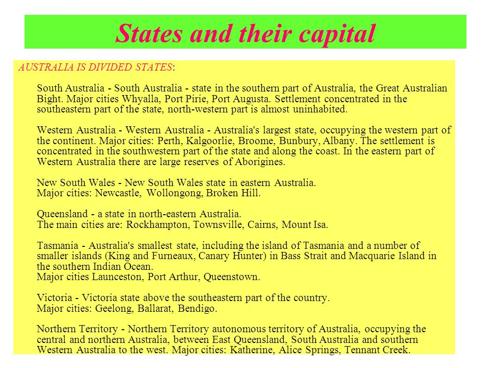 States and their capital