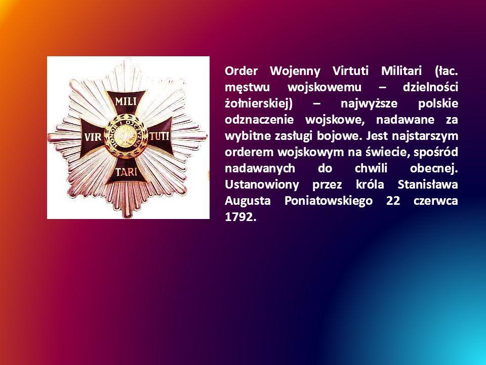 Order Wojenny Virtuti Militari (łac