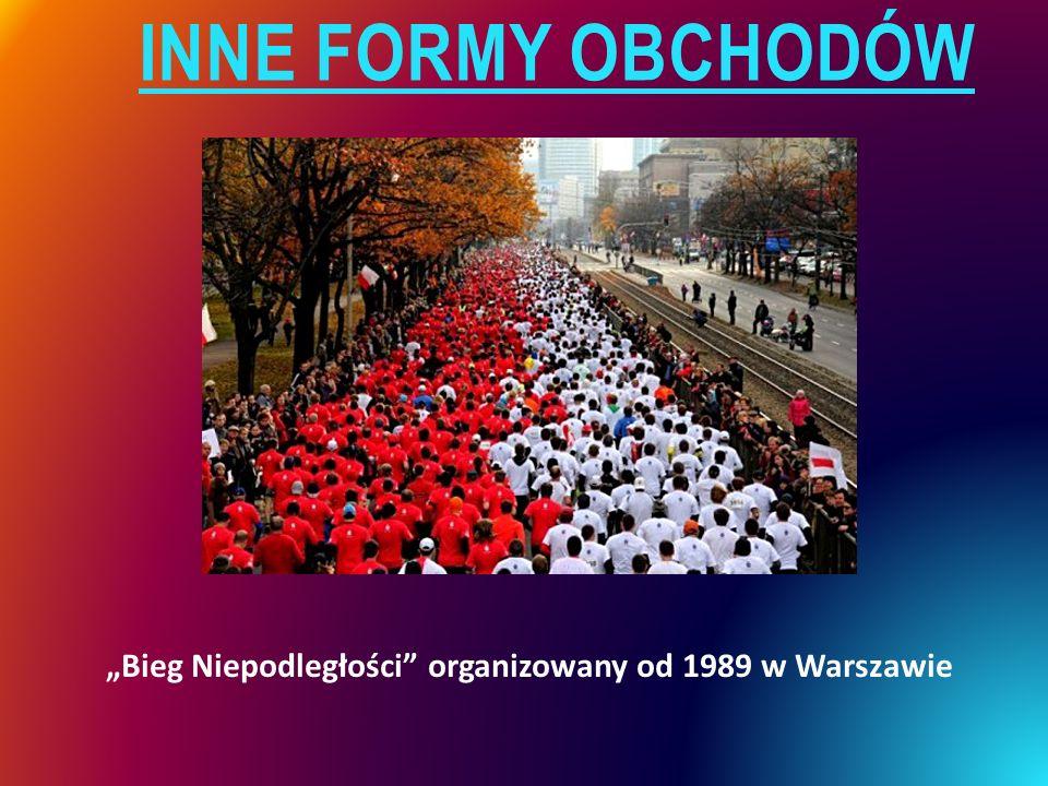 """""""Bieg Niepodległości organizowany od 1989 w Warszawie"""