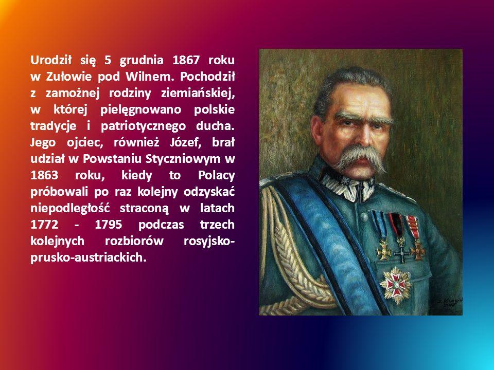 Urodził się 5 grudnia 1867 roku w Zułowie pod Wilnem