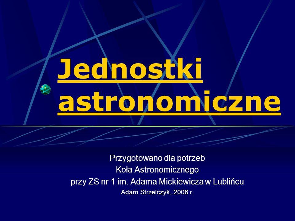 Jednostki astronomiczne