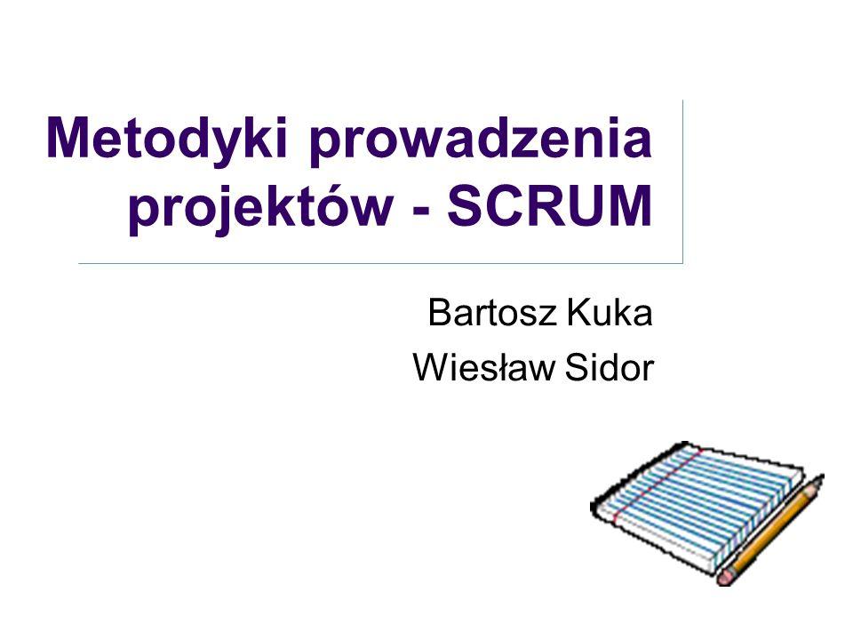 Metodyki prowadzenia projektów - SCRUM