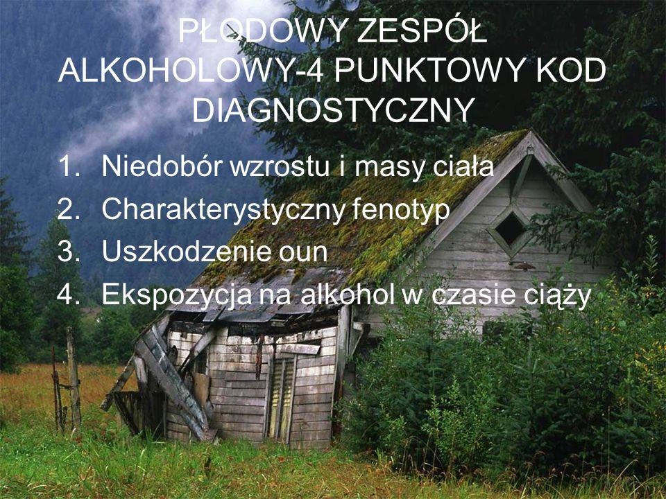 PŁODOWY ZESPÓŁ ALKOHOLOWY-4 PUNKTOWY KOD DIAGNOSTYCZNY
