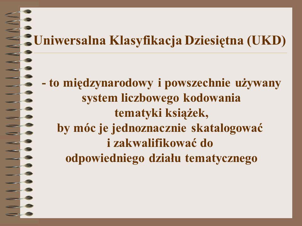 Uniwersalna Klasyfikacja Dziesiętna (UKD)
