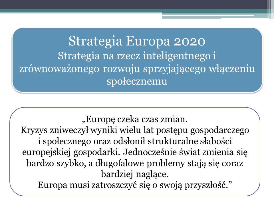 Strategia Europa 2020 Strategia na rzecz inteligentnego i zrównoważonego rozwoju sprzyjającego włączeniu społecznemu.