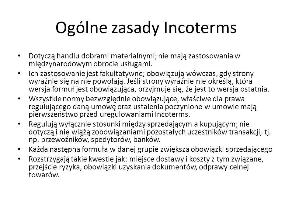 Ogólne zasady Incoterms