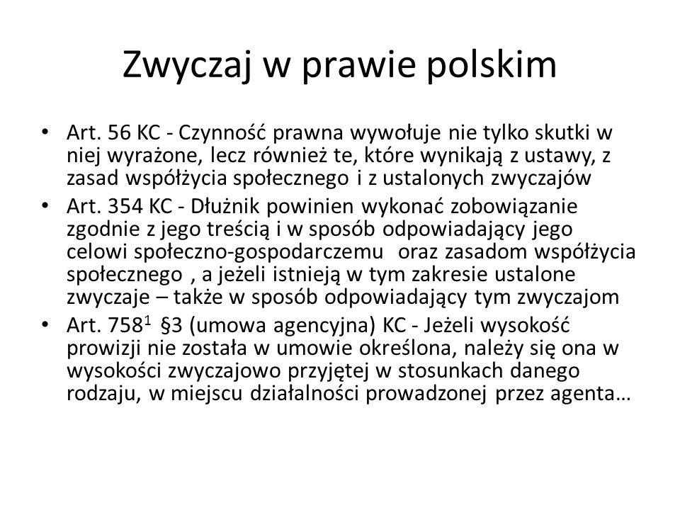 Zwyczaj w prawie polskim