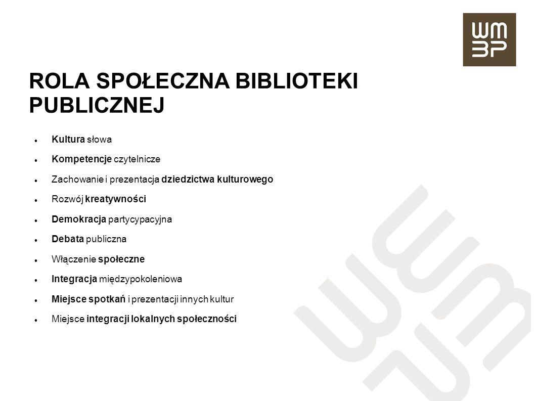ROLA SPOŁECZNA BIBLIOTEKI PUBLICZNEJ