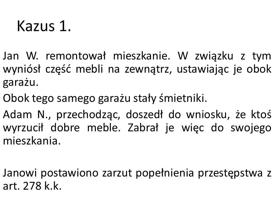 Kazus 1.