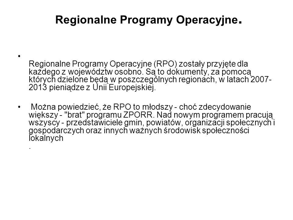 Regionalne Programy Operacyjne.