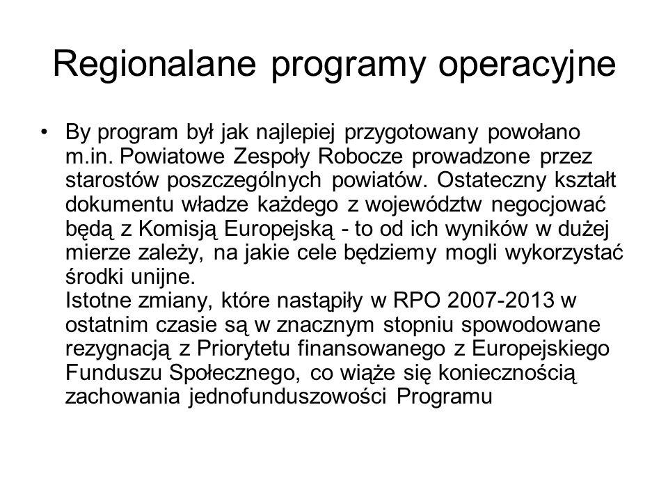 Regionalane programy operacyjne