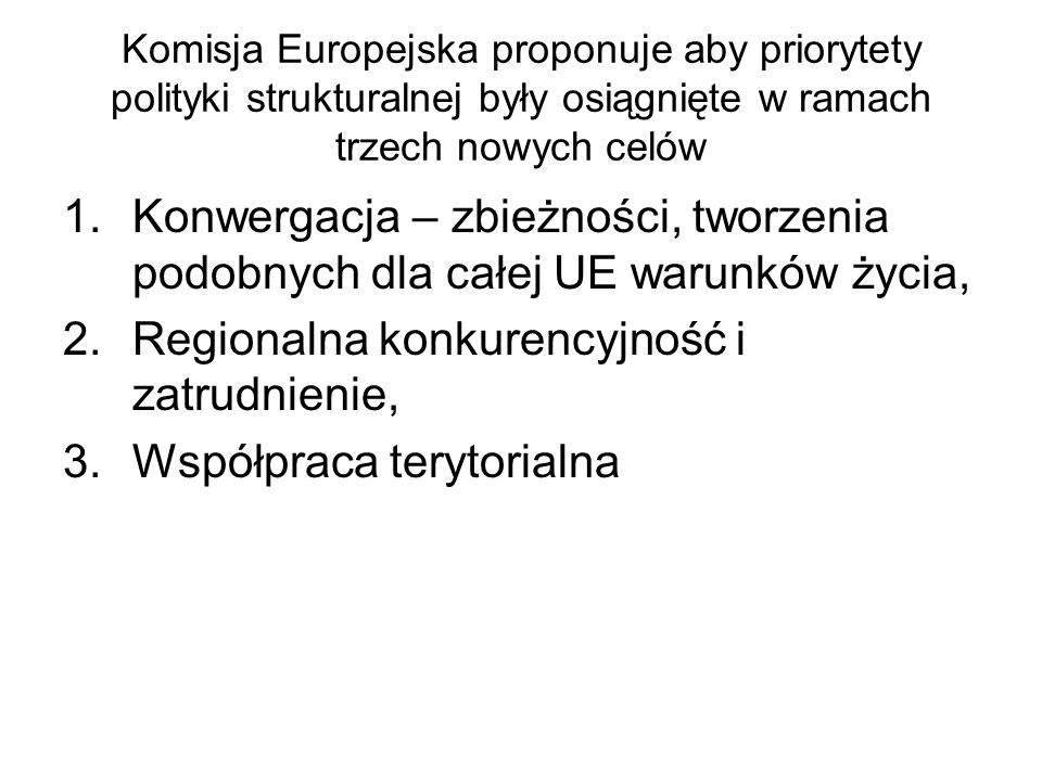 Regionalna konkurencyjność i zatrudnienie, Współpraca terytorialna