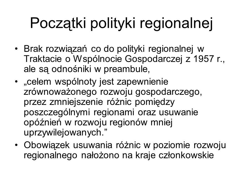 Początki polityki regionalnej