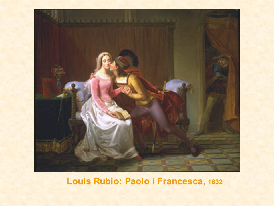 Louis Rubio: Paolo i Francesca, 1832